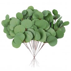 Miracliy 12 PCS Artificial Eucalyptus Stems, Eucalyptus Leaves Branches, Real Touch Eucalyptus Plant for Vases, Wedding Greenery Bouquet Fillers