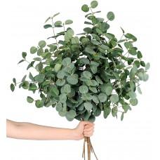 Miracliy 14 PCS Artificial Eucalyptus Stems, Faux Eucalyptus Leaves Greenery Stems Bulk for Vase Wedding Home Party Decoration